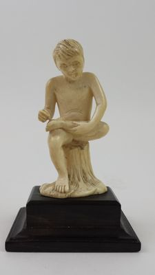 Ivory boy- Trivandrum, South India - early 20th century