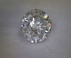 Round cut diamond, 0.50 ct, G I2