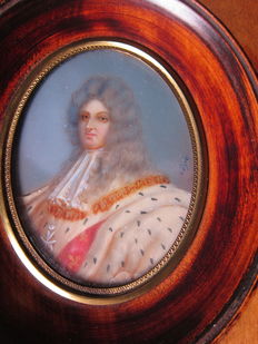 Miniature portrait depicting Louis XV, France, first half 20th century
