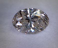 Oval-cut Diamond, 0.64 ct - Light Brown - SI2 - NO RESERVE PRICE