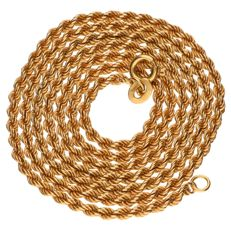 Yellow gold cord chair necklace, 18 kt – Length: 60 cm