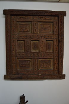 Massive window - carved wood - Portugal - 19th century
