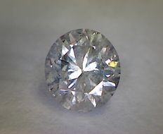 Round cut diamond, weight: 0.63 ct, colour: D, clarity: SI2