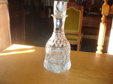 hand-cut Crystal bottle with a high percentage of lead.
