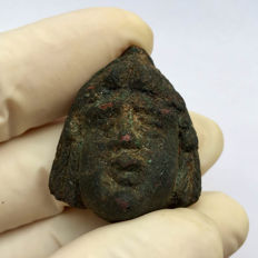 Ancient Roman bronze head of Attis  - 28mm / 30mm.