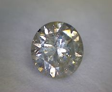 0.57 ct round cut diamond (Colour: J - Clarity: I1)
