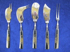 Original russian set cutlery Zlatoust - after 1917 year.Tzarska Russia.