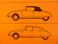 Citroen brochures Ds, ID, Break, Dyane, Visa, GS, GSA, BX, and Ami6 from 1961.