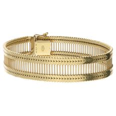 Yellow gold bracelet with foxtail links, in 14 kt.