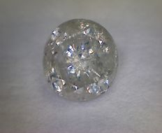 Diamond, 0.58 ct, round cut, F I3