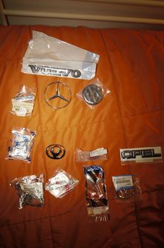 Car Emblem -Volvo - Daewoo - Audi - Toyota - Nissan- VW- Opel - ETC.  LOT of 12 Pieces