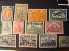 German Reich and Austria - collection with air mail stamp, National Assembly in Weimar 25 pfennig, Hindenburg, and more