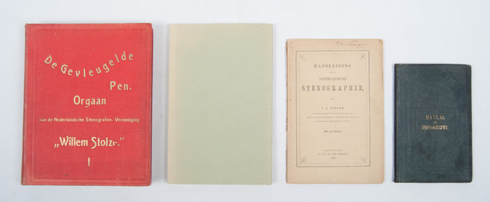 Lot with four 19th-century works about stenography - 1867 / 1895