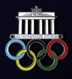 Car Plaque - Olympic games 1936 Berlin