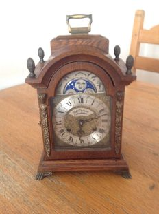Warmink wooden table clock - Joh Duchesme Amsterdam - Period 1970