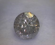 0.50 ct round cut diamond (Colour: J - Clarity: I2).