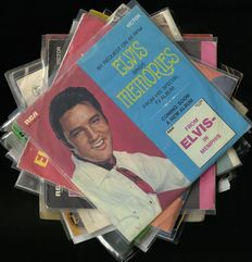"""Lot of 17 original Elvis Presley EP's and singles including """"Long legged girl"""",  """"Rubberneckin'"""", """"Stay away"""" and """"All shook up"""" (EP)"""