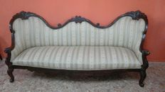 Rosewood sofa, Louis Philippe style, 19th century