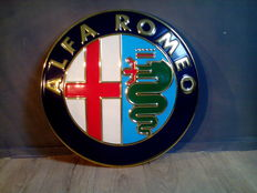 Alfa Romeo - Advertising sign / shield - Hard plastic - diameter 70 cm