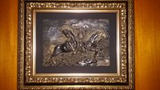 Crafted Picture with a Horse's Theme in Silver