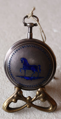 Th. Gay Tl ger do Roy a Turin – spindle savonette pocket watch - enamel inlays