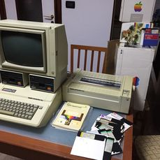 Complete Apple IIe System (Computer, Monitor, Floppy, Integrated Keyboard, Printer)