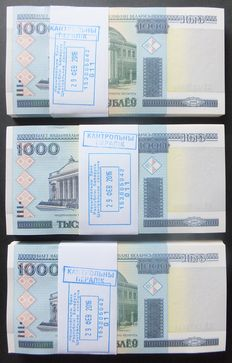 Belarus - 300 x 1000 Rublei 2000 - (2016) in original bundles - Pick 28b