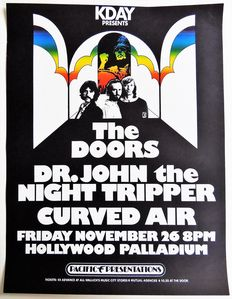 "Hippie Dance Concert ""The Doors""  1971 Hollywood California Poster"