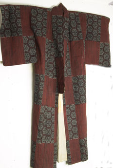 Ikat / Kasuri Kimono silk / cotton - Japan - Early 20th century