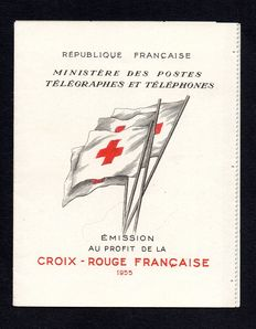 France 1955 - Red Cross notebook 15f + 5f blue and red - Yvert n ° 2004