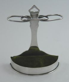 Edwardian silver novelty walking stick stand hat pin holder, William Comyns & Sons, London 1904