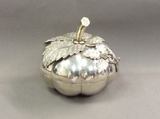 Silver decorated pumpkin box