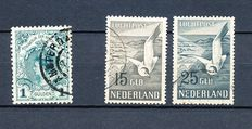The Netherlands 1898/1951 - Inaugurationstamp and airmail seagul - NVPH 49 + LP12/LP13