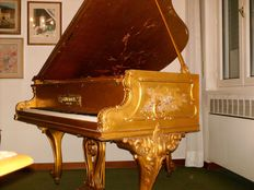 Schimmel baby grand piano, gold leaf