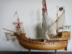 Santa Maria of Columbus from 1482 - well built wooden model boat