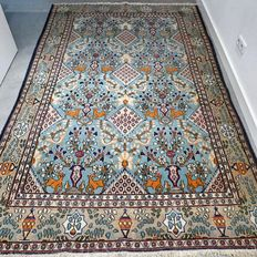 Magnificent vintage Ghom Persian carpet - 252 x 160 - Collector's item - With certificate