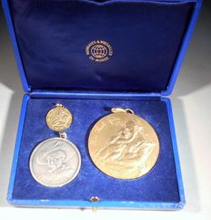 "Belgium - set of medals 1977 ""Unesco - Rubens"" - gold, silver and bronze."