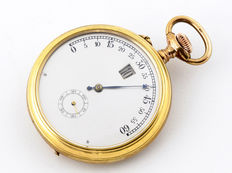 Modernista. Pocket watch, jumping hours Late 19th Century