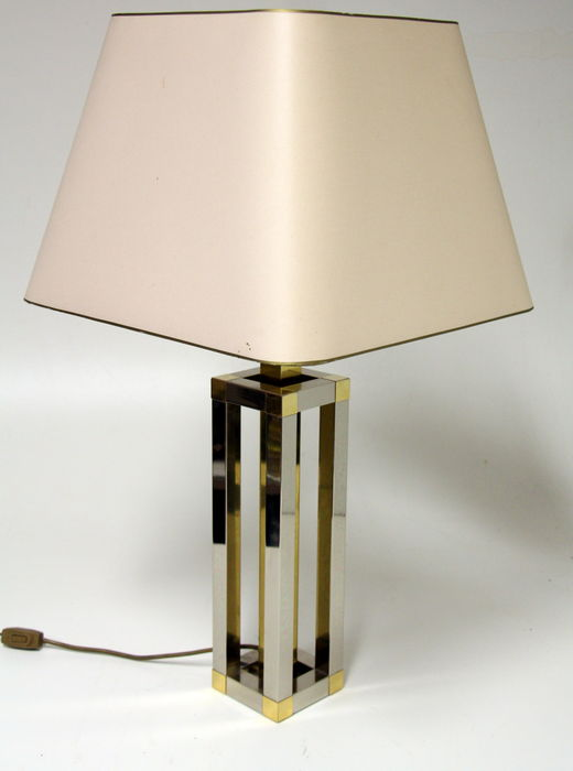 Unknown designer - Vintage brass, chrome table lamp in Willy Rizzo style.
