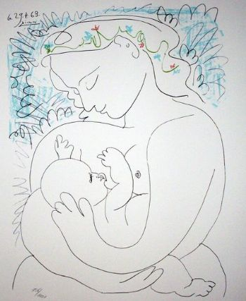 Pablo Picasso (after) - Maternidad.