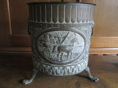Beautifully decorated plant pot, 20th century