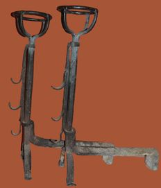 Great pair of andirons - France - end of the XVII th - beginning of the XVIII century