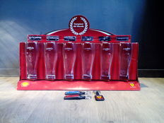 Ferrari - keychains 3 pieces / Campione del Mondo - Glass 6 pieces