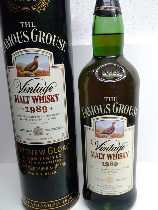 Famous Grouse 1989 Malt (Macallan & Highland Park) - Original bottling - b. 2002 - 700 ml