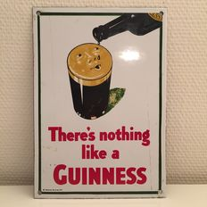 Enamel sign, GUINNESS - There's nothing like a GUINNESS, 1970