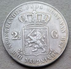 The Netherlands – 2½ guilders 1843 Willem II – silver