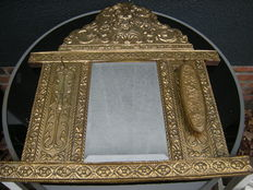 Large hall mirror with brush and key hook