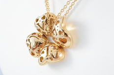 "Pasquale Bruni - Necklace ""Clover"" rosegouden ketting"