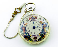 Bovet. High collection Chinese market pocket watch. Duplex escapement. Circa 1810-1830.