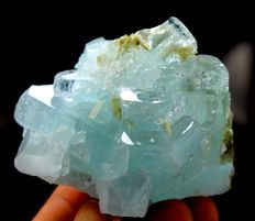 Terminated Aquamarine Crystal Cluster with Mica - 60 x 43 x 46 mm - 119 gm
